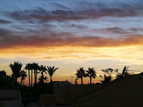 Sunset From The Terrace!