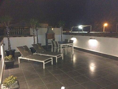 Roof Terrace At Night!